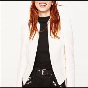 Zara modern full sleeve high collar blazer